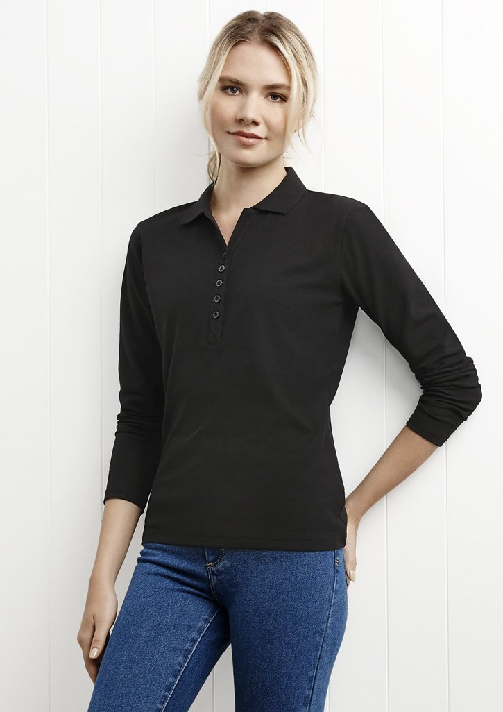 Crew Ladies L/S Polo P400LL