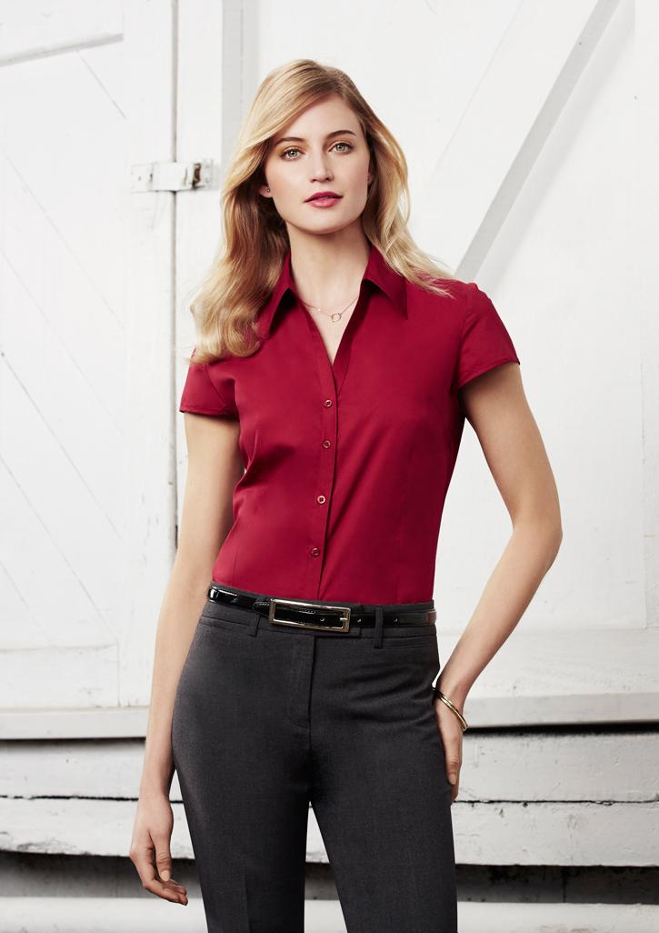 Metro Ladies Cap Sleeve Shirt S119LN