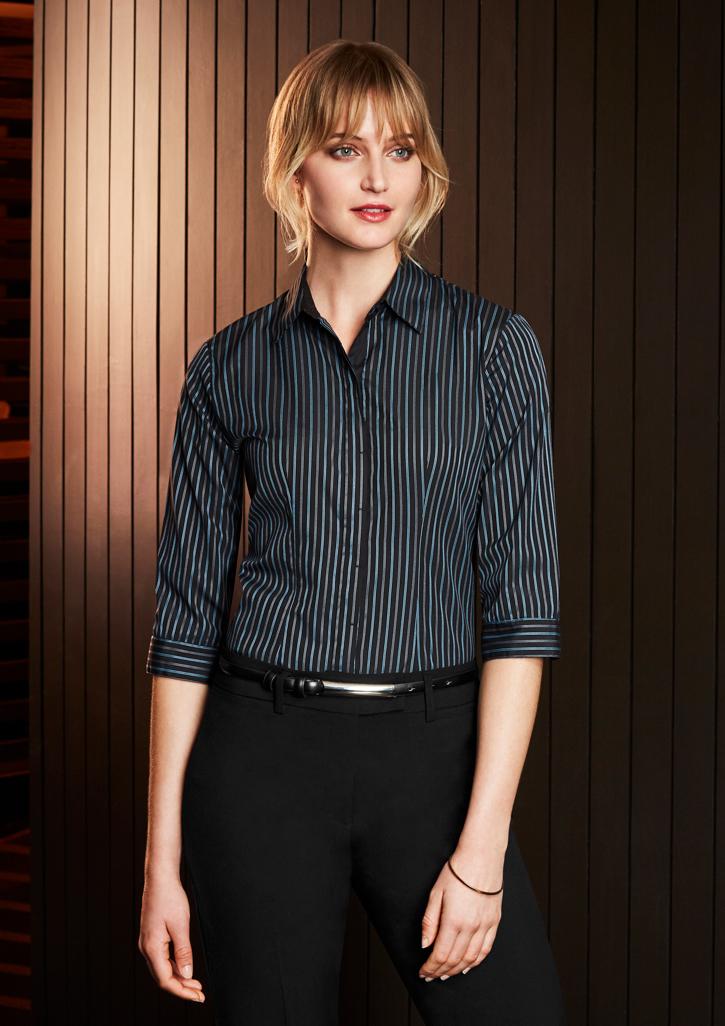 Reno Ladies Stripe ¾/S Shirt S415LT