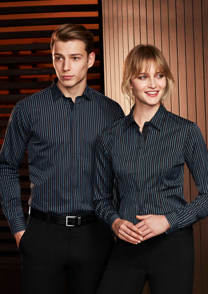Reno Mens Stripe L/S Shirt S415ML