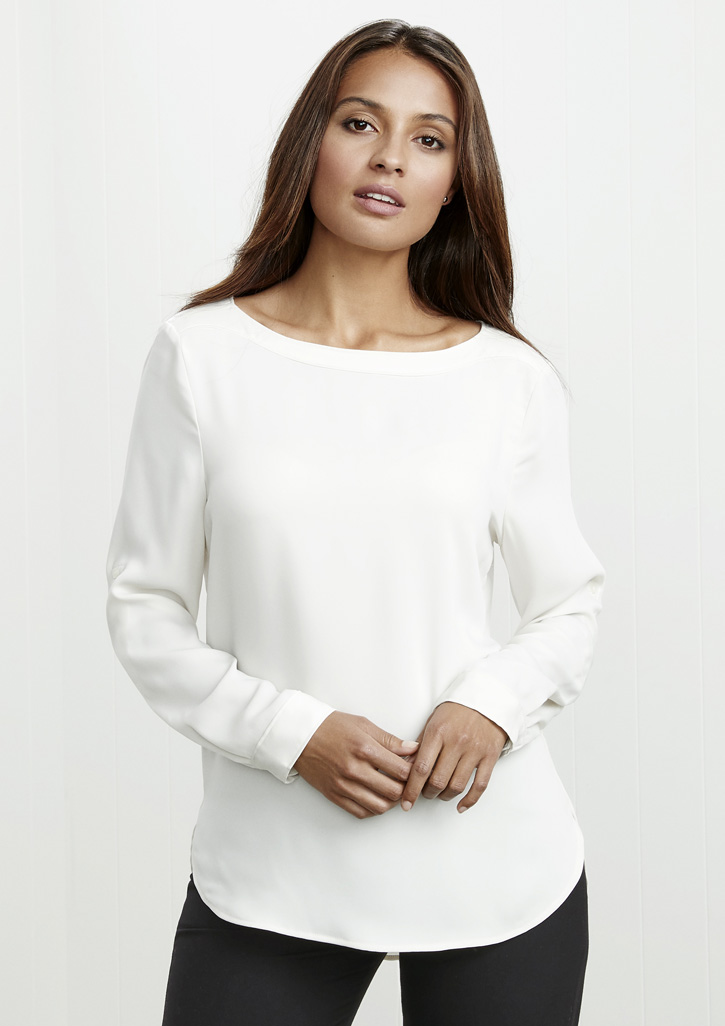 Madison Ladies Boatneck Blouse S828LL