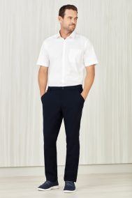Mens Comfort Waist Flat Front Pant CL958ML