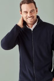 Mens Plain Micro Fleece Jacket PF630