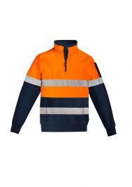 Mens Hi Vis 1/4 Zip Pullover - Hoop Taped ZT567