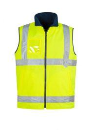Mens Hi Vis Lightweight Fleece Lined Vest ZV358