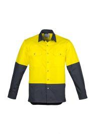Mens Hi Vis Spliced Industrial Shirt ZW122