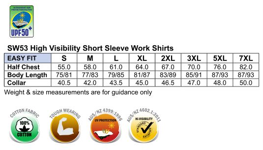 AIW Hi-Vis Cotton Drill Safety S/S Shirt SW53 - Alice ...
